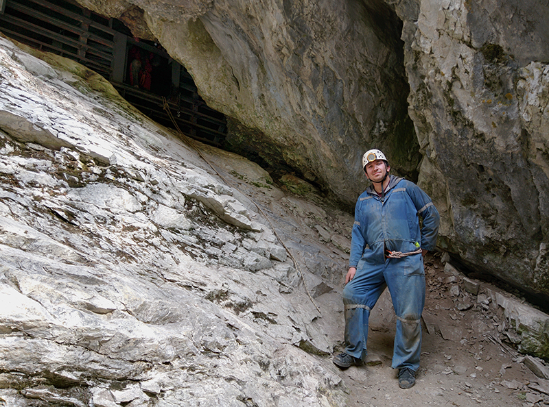 Steve Silva after he finished a tour in Rat's Nest Cave in Grotto Mountain, near Canmore, Alta., on May 9, 2015. (Supplied)